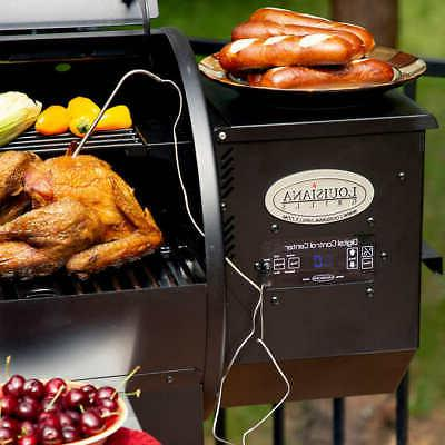 Louisiana Pellet Grill with Flame Outdoor Cooking, BBQ @@