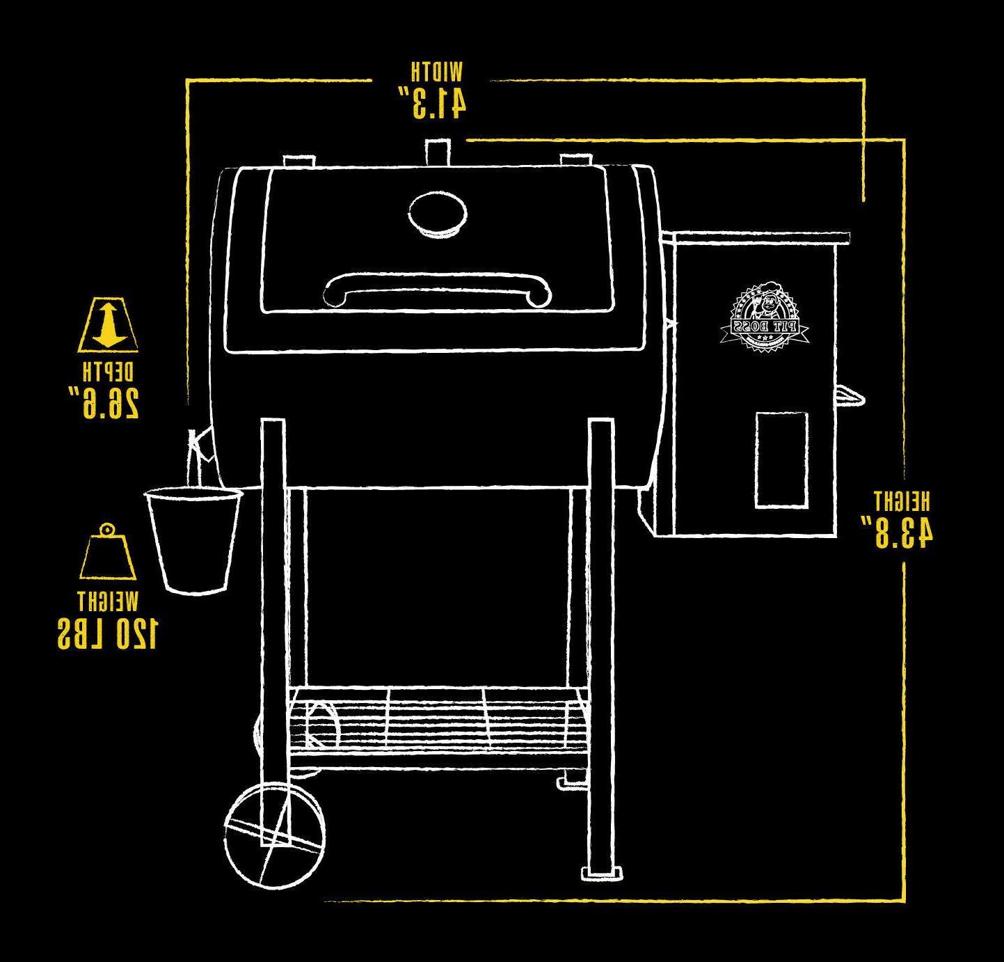 Pit Pellet Broiler 700 Cooking Space
