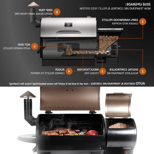 Z GRILLS ZPG-700E 2019 Pellet Grill 8 in BBQ