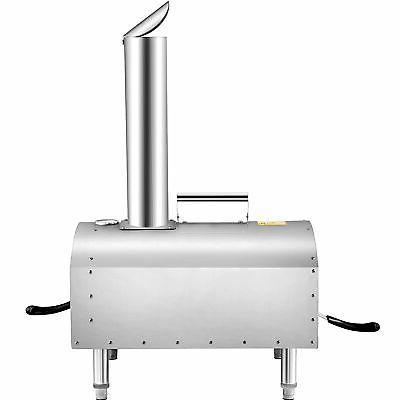 VEVOR Outdoors Pizza Oven BBQ Smoker SS
