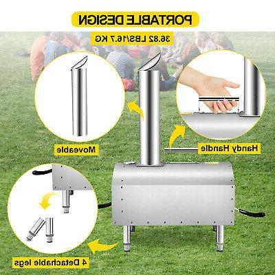 VEVOR Outdoors Portable Oven Grill Wood BBQ Food SS