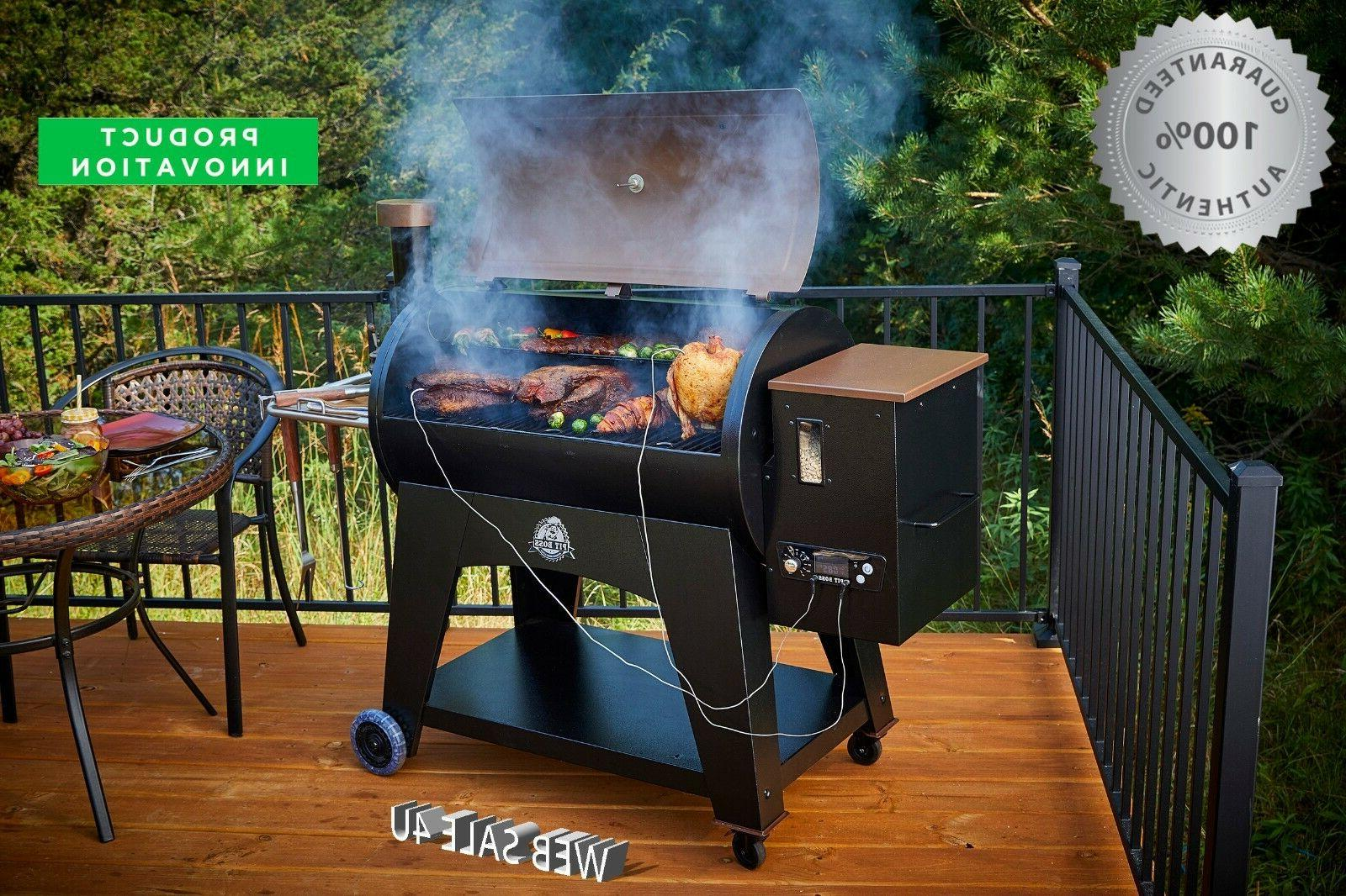 Pellet Grill Smoker Flame Broiler Char BBQ w/ Meat Probe Inn