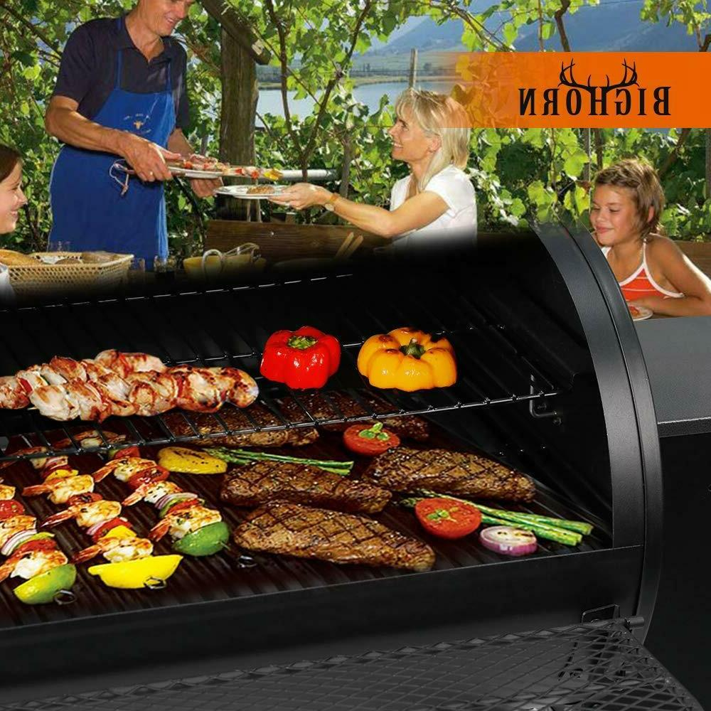 BIG HORN Pellet Grill Wood BBQ Grill Smoker Auto Temperature