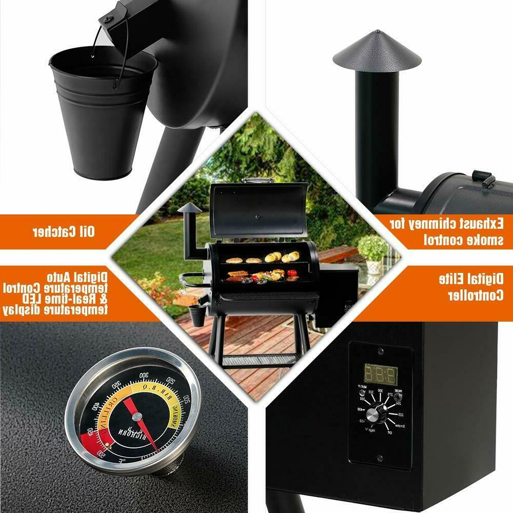 2019 BIG HORN Grill Wood Grill Smoker Control Best