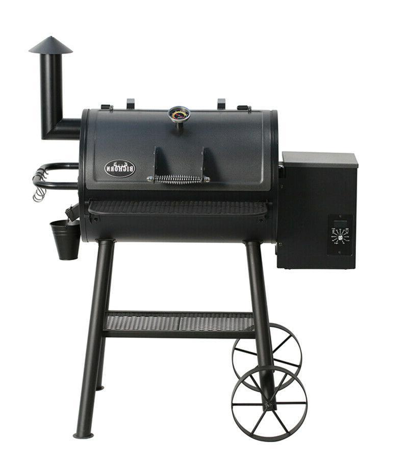Pellet Grill Smoker Temperature Black