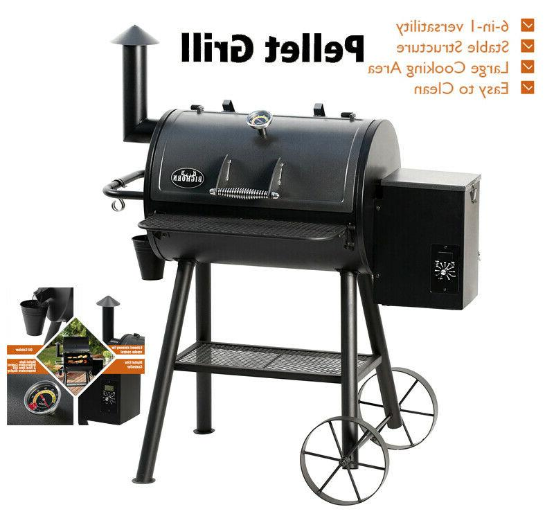 6-in-1 versatility Pellet Grill Barbecue Control