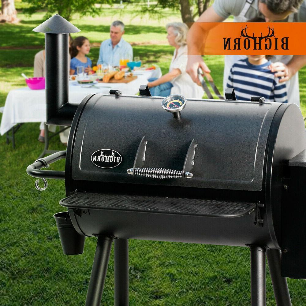 pellet grill wood bbq grill smoker dual