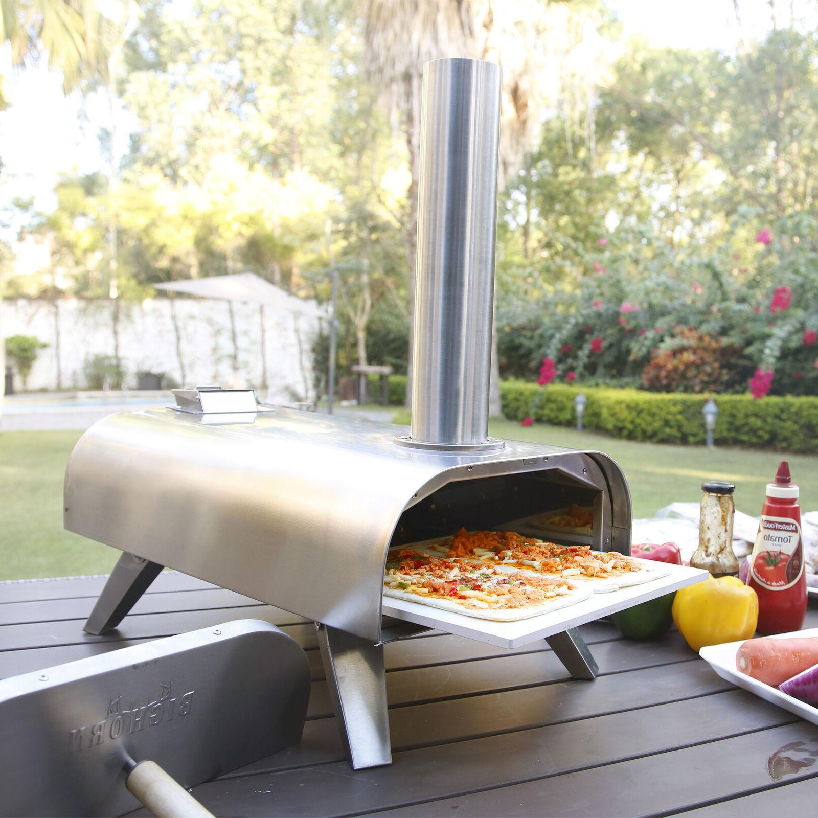Big Horn Portable Pizza Pellet Grill Wood Grade