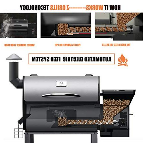 Z GRILLS Grill and Smoker 2019 New Steel Lid in