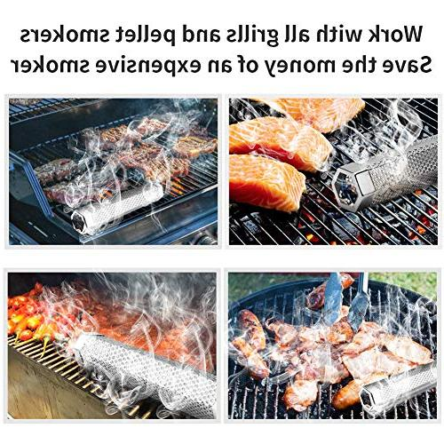 Pellet Stainless Pellet Tube Cold/Hot Smoke Electric Grill or Smokers, Hexagon