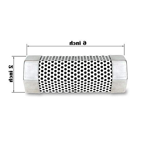 """KampFit Pellet Tube 6"""" Steel Perforated Wood Smoker of Cold Smoke for All Electric, Gas, Grills or Smokers"""