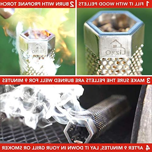 LIZZQ Smoker Hours of Smoke - or Smoker, Hot Cold Safety Tasty - Grilling Ideas