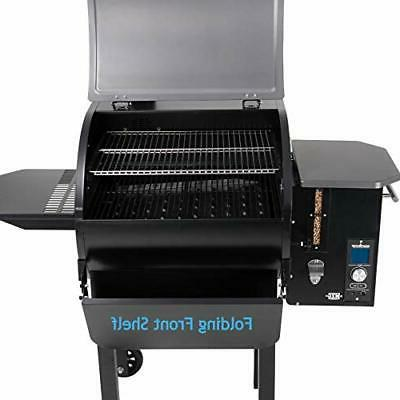 SmokePro Slide Smoker with Fold Down Front Shelf Wood Pellet