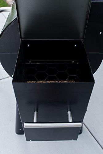 Camp PG24XT Smoke Pro Pellet with Digital Controls Temp Smoker Grill, Black