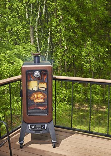 3-Series Wood Vertical Pellet Smoker Hopper,