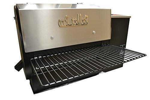 powdercoat folding front grill shelf