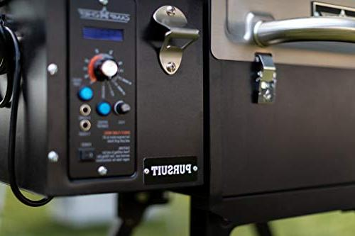 Camp Pursuit Portable Smoker, Stainless - Smoke - Slide and Grill