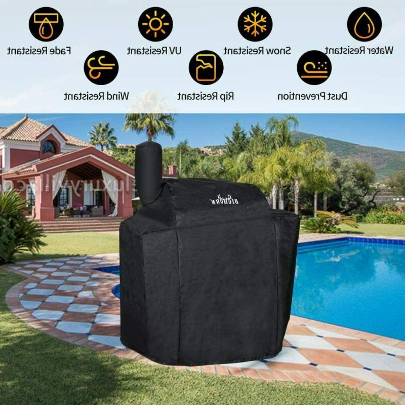 BIG OUTDOORS Smoker Cover, Pellet Grill Heavy Duty Smoker Cover, Cha
