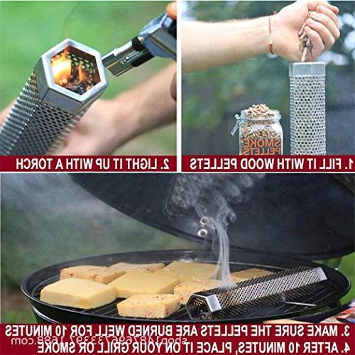 Smoker Tube,JUSTDOLIFE Portable Tube Supplies Baking