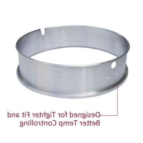 "Onlyfire Steel Rotisserie Ring 21.5- 22.5"" Charcoal"