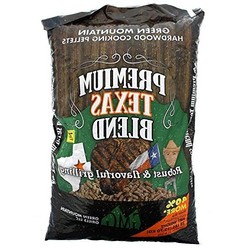 Green Texas 100% Pure Grilling Cooking PelletsGreen Mountain Grills Premium Pure Hardwood Grilling Cooking