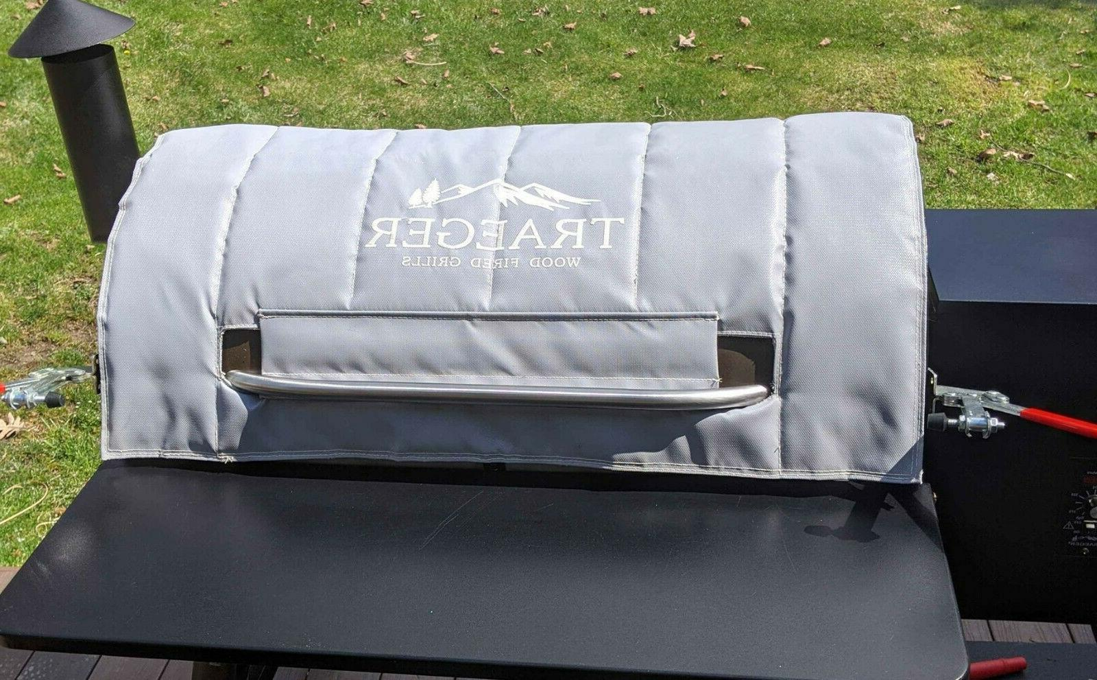 traeger bac345 insulation blanket pellet grill cover