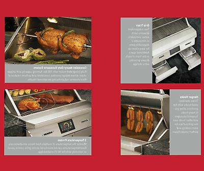 """Twin Eagles 36"""" Smoker & Grill Rotisserie Built"""