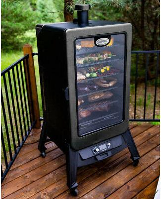 vertical pellet smoker cover included