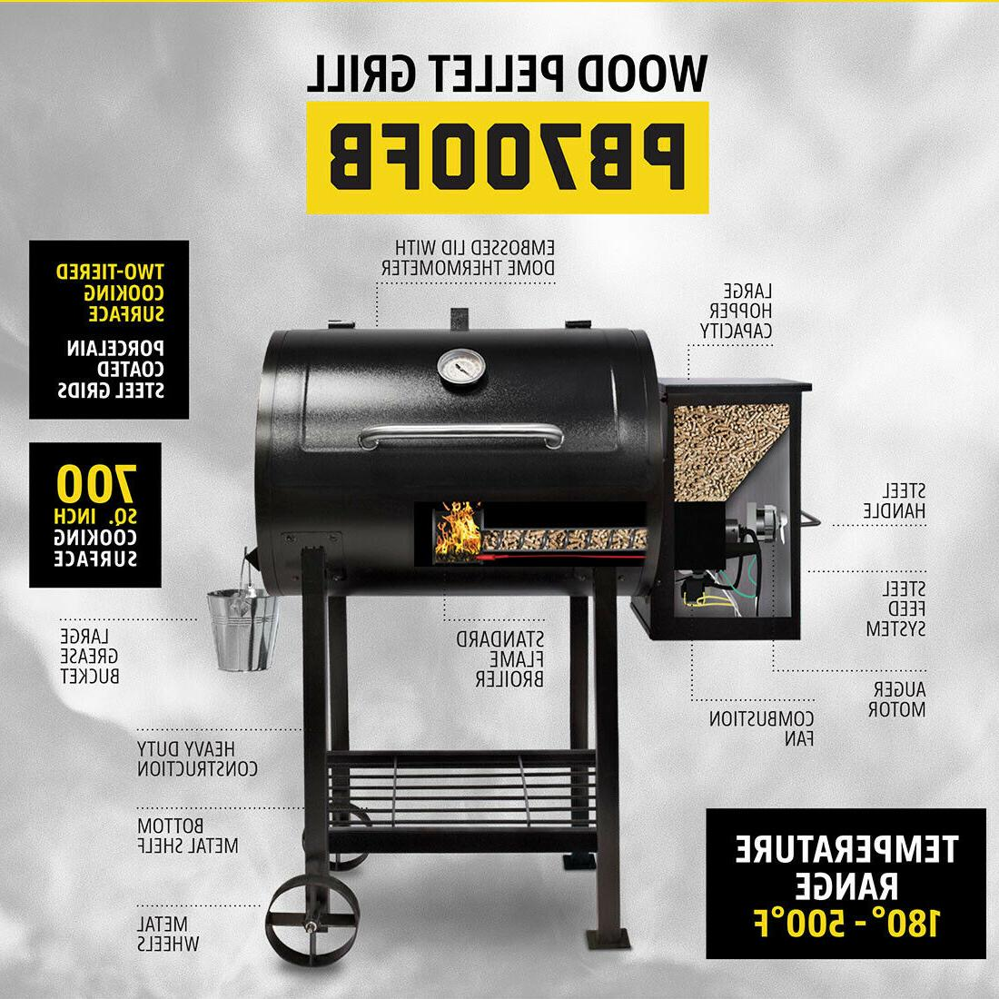 Pit Pellet with Broiler 700 Cooking