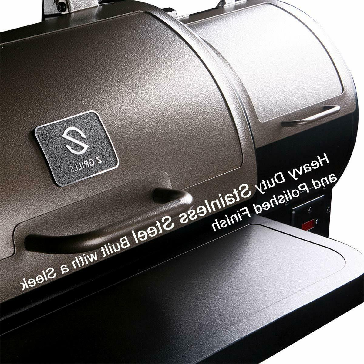 450SQ.IN Grill Smoker w/ Controls Outdoor Cooking+Free