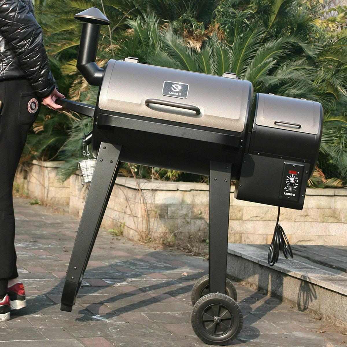 Z GRILLS Wood BBQ Grill with Digital Outdoor Cooking