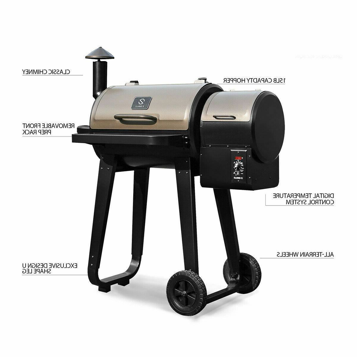 BBQ Grill and Smoker with Digital Cooking