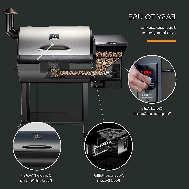 Z GRILLS Wood BBQ Roast Temp Control 700 Squar In