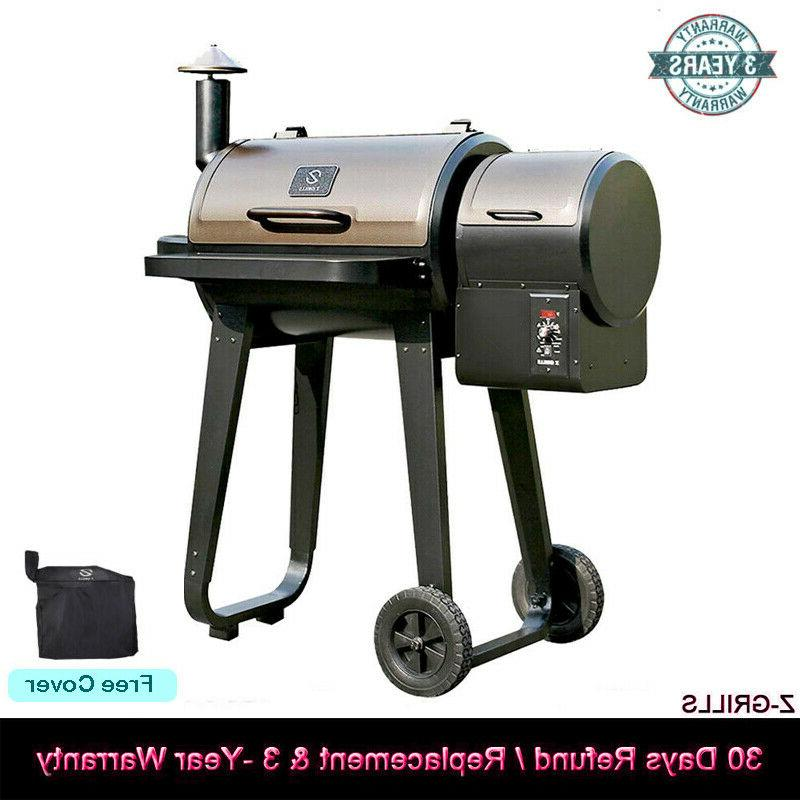 wood pellet grill and smoke over 8