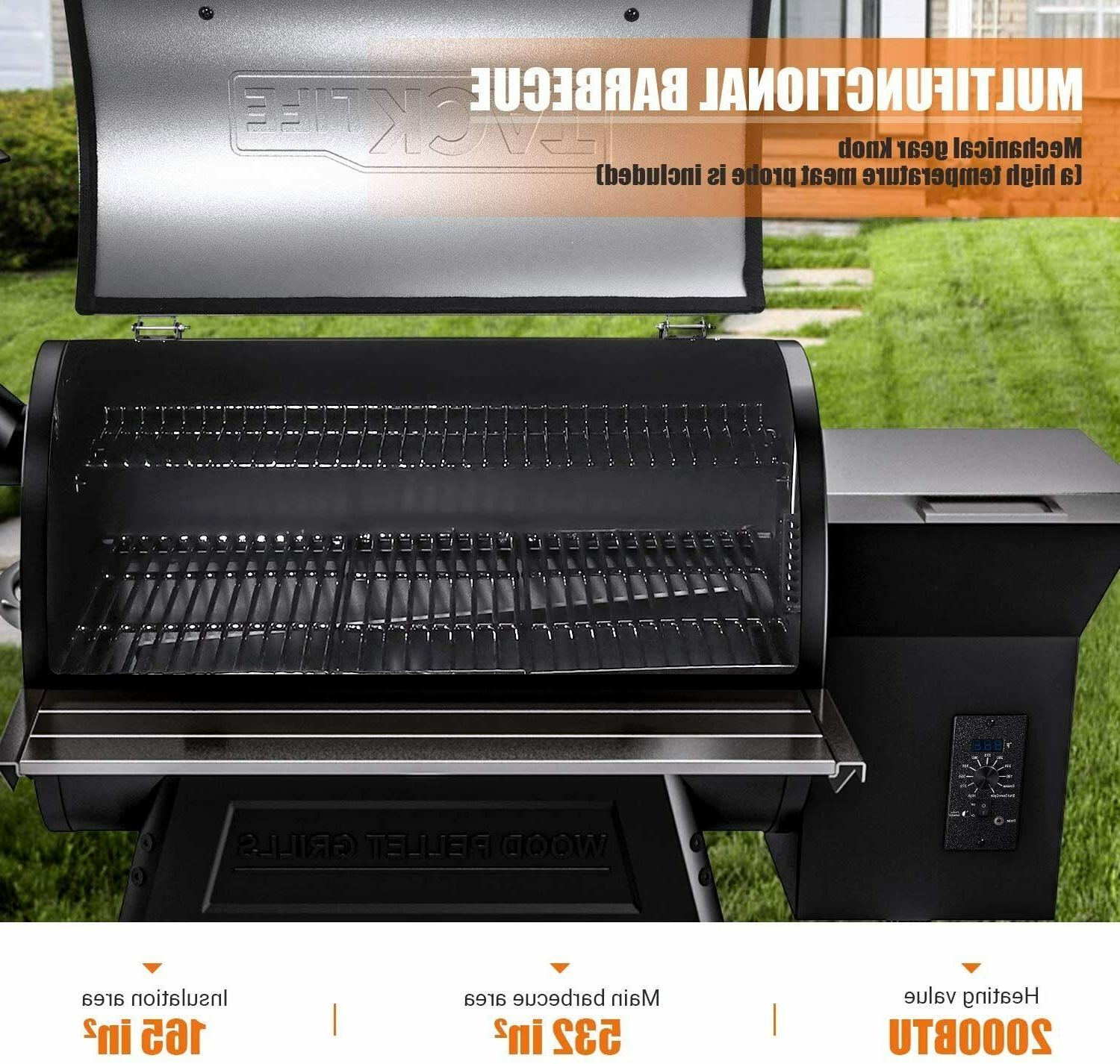 TACKLIFE Pellet and Smoker,8-in-1 700 in Cooking Area,