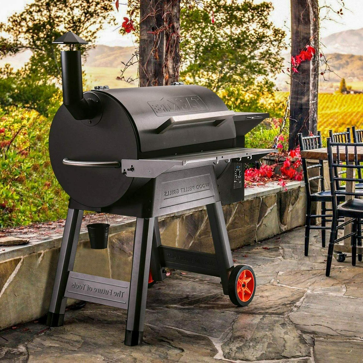 TACKLIFE Pellet Grill and Smoker,8-in-1 BBQ 700 sq in Area,