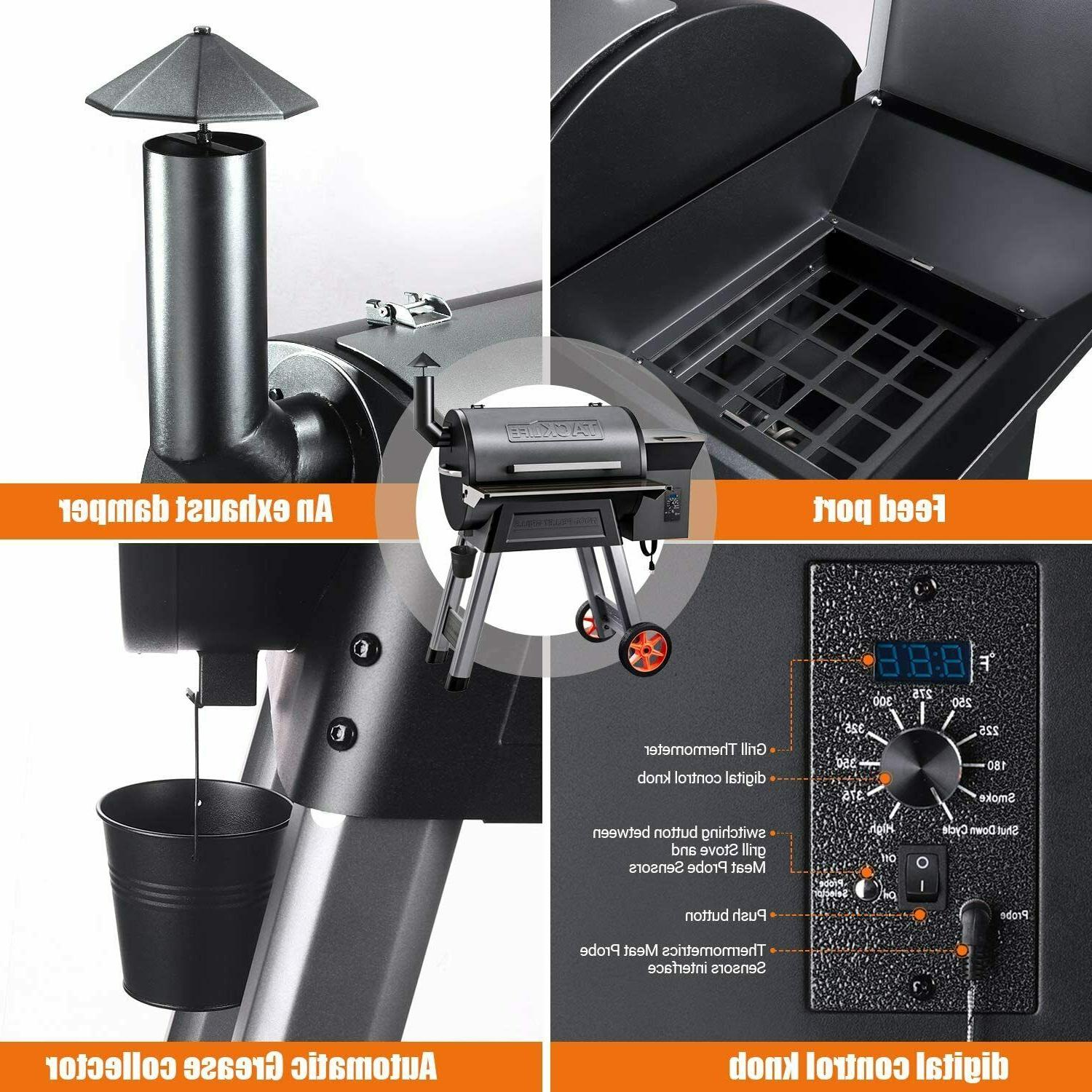 TACKLIFE and Smoker,8-in-1 Grill,