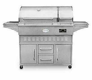wood pellet grill and smoker with cart