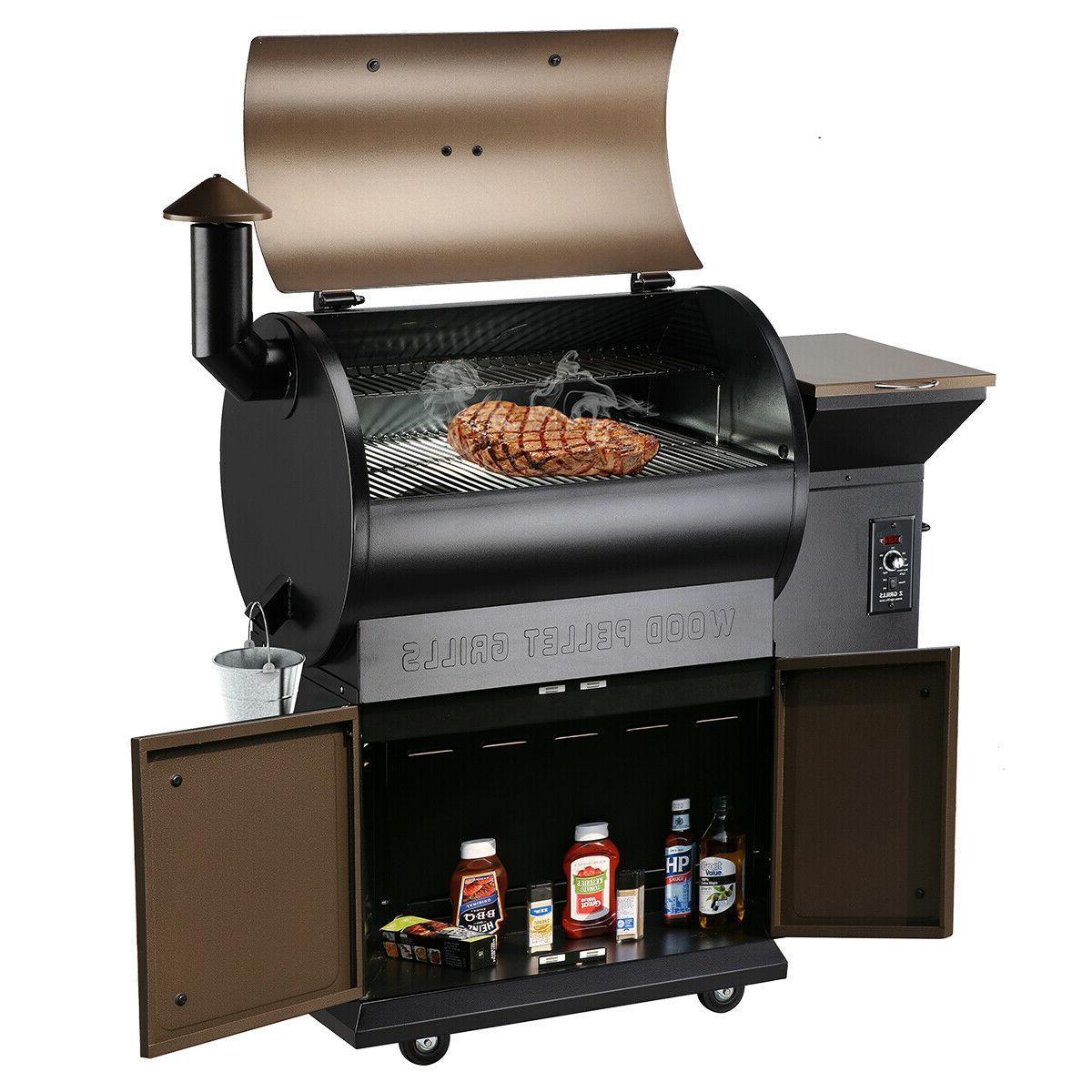 Z GRILLS ZPG-700D Wood Pellet Grill BBQ Smoker