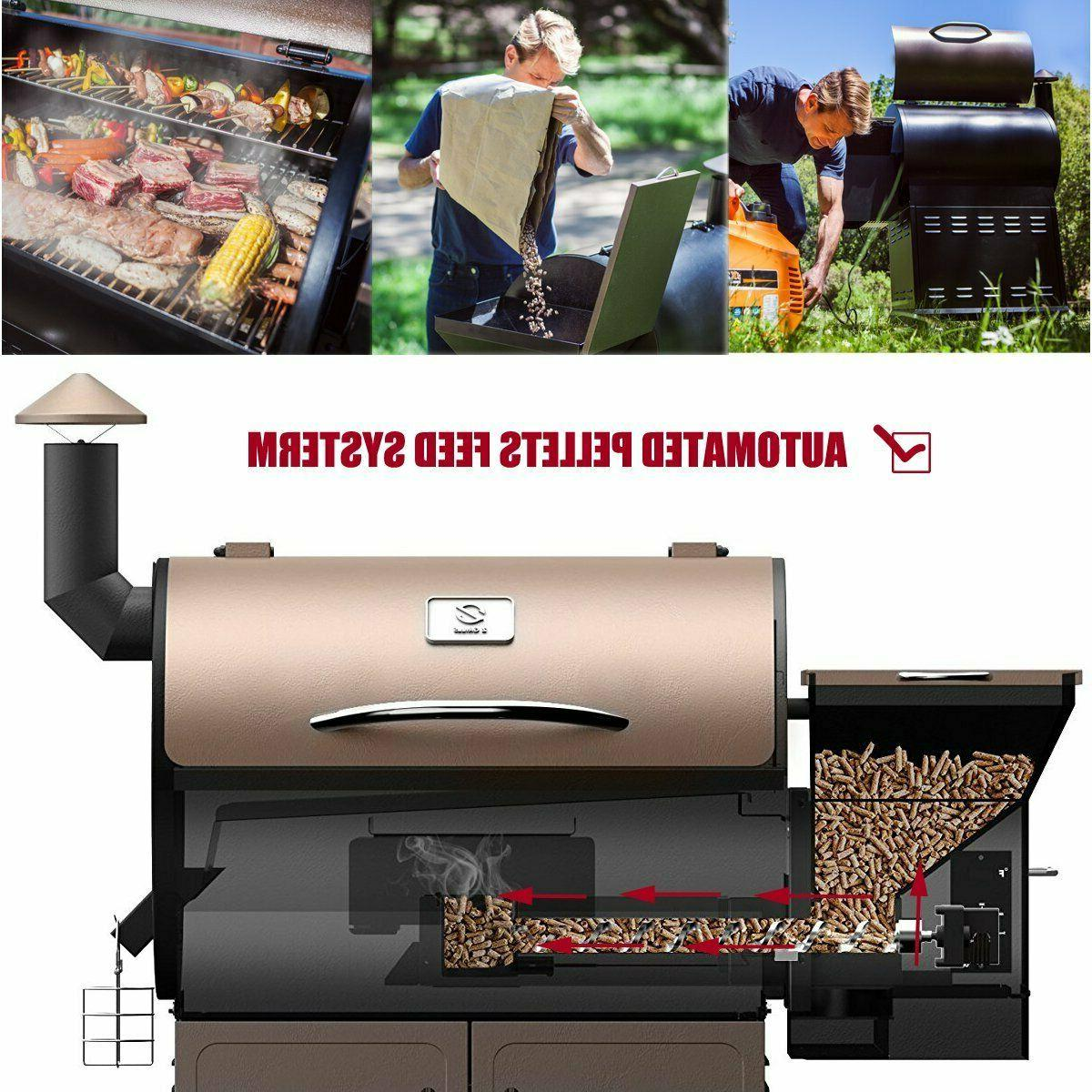 Z GRILLS Wood Pellet Grill Smoker Digital Control Free