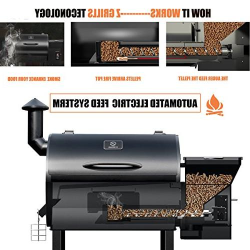 Z Wood Pellet Grills & Smoker in with Electric for Outdoor Backyard-Bundle