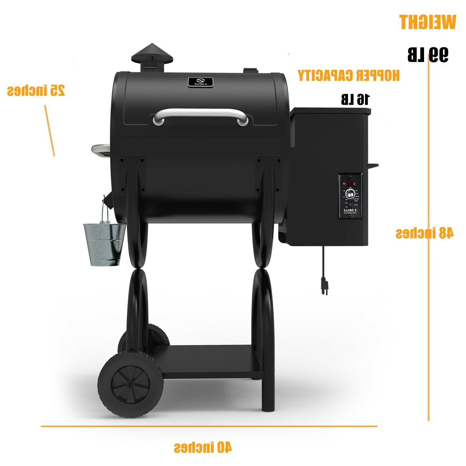 Z Wood Pellet Grill Smoker with Digital 590sq.in.