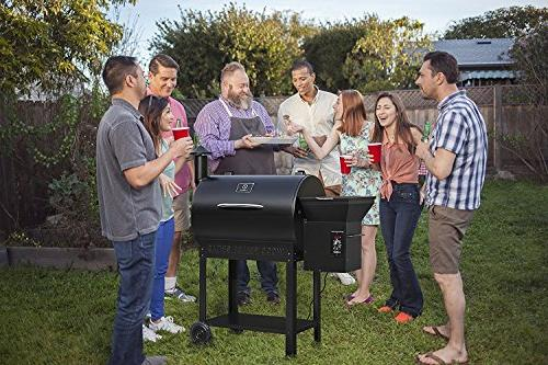 Z Pellet Barbecue Grill Smoker wth Digital Control, Backyard Outdoor BBQ