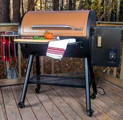 large wood pellet grill and smoker rolling