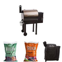 Traeger Lil Tex Elite 22 Grill and Smoker with Cover, 20lbs