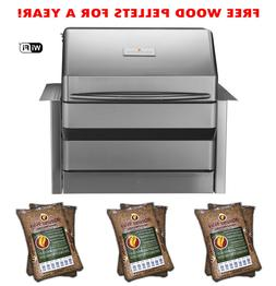 MEMPHIS PRO BUILT-IN WOOD FIRE GRILL SMOKER ONE YEAR FREE PE
