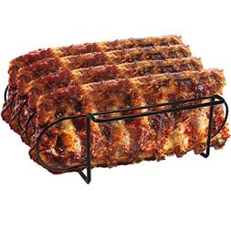 Sorbus Non-Stick Rib Rack - Holds 4 Rib Racks for Grilling &