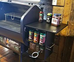 Pellet Grill Hopper Shelf and Spice Rack