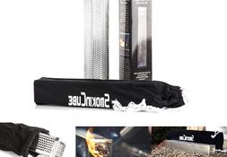 Pellet Smoker Cube 12in SS Perforated Cubic Wood Pellet Smok