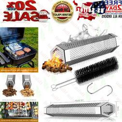 Pellet Smoker Tube BBQ Cold Hot Gas Grill 12 Inch Stainless